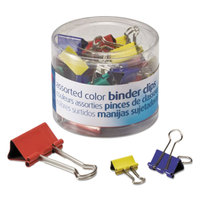 Officemate 31026 Assorted Color Mini, Small, and Medium Binder Clips - 30/Pack
