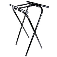 "Lancaster Table &amp&#x3b; Seating 31"" Folding Black Metal Tray Stand"