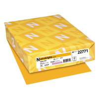 Astrobrights 22771 8 1/2 inch x 11 inch Galaxy Gold Pack of 65# Smooth Color Paper Cardstock - 250 Sheets