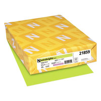 Astrobrights 21859 8 1/2 inch x 11 inch Vulcan Green Ream of 24# Color Paper - 500/Sheets