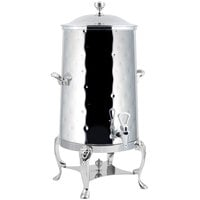 Bon Chef 48003-1C-H Lion 3 Gallon Insulated Hammered Stainless Steel Coffee Chafer Urn with Chrome Trim