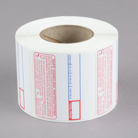 Cardinal Detecto 6600-3003 2 5/16 inch x 1 9/10 inch Safe Handling Instructions Label Roll