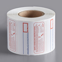 Cardinal Detecto 6600-3003 2 5/16 inch x 1 9/10 inch Safe Handling Instructions Thermal Label Roll, 500 Labels/Roll