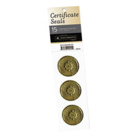 Southworth 99294 1 3/4 inch Gold Pack of Certificate Sticker Seal - 15/Sheets