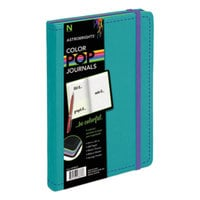 Astrobrights 98833 ColorPop 8 1/2 inch x 5 1/2 inch Teal College Ruled Journal