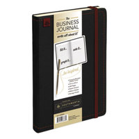 Southworth 98886 8 1/4 inch x 5 1/8 inch Black Ruled Business Journal