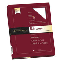 Southworth RD18CF 8 1/2 inch x 11 inch White 100% Cotton Box of 32# Resume Paper - 100/Sheets
