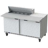 Beverage-Air SPE60HC-10C 60 inch 2 Door Cutting Top Refrigerated Sandwich Prep Table with 17 inch Wide Cutting Board