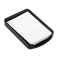 Officemate 22362 4 inch x 6 inch 2200 Series Black Plastic Memo Holder
