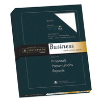 Southworth JD18C 8 1/2 inch x 11 inch White Box of 100% Cotton 32# Business Paper - 250/Sheets