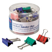 Officemate 31029 5/8 inch Capacity Assorted Color Medium Binder Clips - 24/Pack