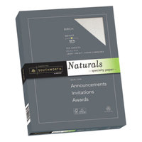 Southworth 99418 Naturals 8 1/2 inch x 11 inch Birch Pack of 32# Specialty Paper - 100/Pack