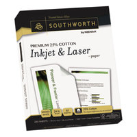Southworth J344C 8 1/2 inch x 11 inch Wicked White Pack of 25% Cotton 24# Paper - 250/Sheets