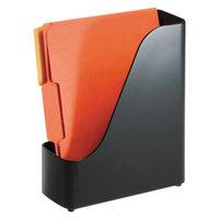Officemate 22352 4 inch x 9 1/2 inch x 11 1/2 inch 2200 Series Black Plastic Magazine File