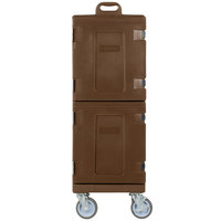 Carlisle PC600N01 Cateraide 25 inch x 17 inch x 50 inch Brown Insulated Food Pan Carrier