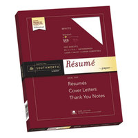 Southworth R14CF 8 1/2 inch x 11 inch White Box of 100% Cotton 24# Resume Paper - 100/Sheets