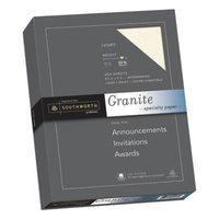 Southworth J938C 8 1/2 inch x 11 inch Ivory Box of 25% Cotton 32# Granite Specialty Paper - 250/Pack