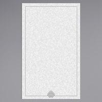8 1/2 inch x 14 inch Menu Paper - Blue Shell Border - 100/Pack