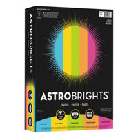 Astrobrights 99608 8 1/2 inch x 11 inch Assorted Bright Color Ream of 24# Color Paper - 500/Sheets