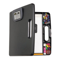 Officemate 83372 1 inch Capacity 8 1/2 inch x 11 inch Portable Storage Clipboard Case with Calculator
