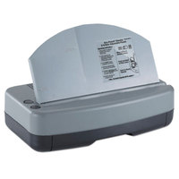 Officemate 90115 Black / Gray Electric 2-to-3 Hole Adjustable Eco-Punch - 9/32 inch Holes