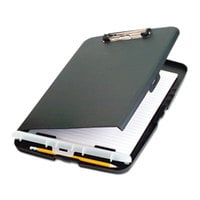 Officemate 83303 1/2 inch Capacity 8 1/2 inch x 11 inch Charcoal Storage Clipboard
