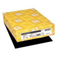 Astrobrights 22321 8 1/2 inch x 11 inch Eclipse Black Ream of 24# Color Paper - 500 Sheets