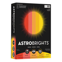 Astrobrights 20272 8 1/2 inch x 11 inch Assorted Warm Color Ream of 24# Color Paper - 500/Sheets