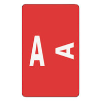 Smead 67171 1 inch x 1 5/8 inch Alpha-Z Color-Coded Red / White A Second Letter Name Filing Label - 100/Pack