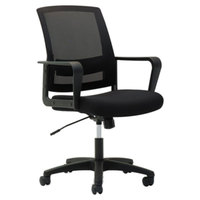 OIF MS4217 Black Mesh Mid-Back Chair with Arms