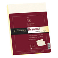 Southworth RF4Q 9 inch x 12 inch Ivory 25% Cotton Resume Envelope with Watermark - 25/Box