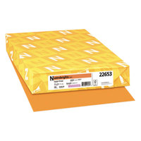 Astrobrights 22653 11 inch x 17 inch Cosmic Orange Ream of 24# Color Paper - 500/Sheets