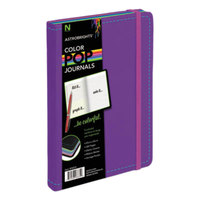 Astrobrights 98835 ColorPop 8 1/2 inch x 5 1/2 inch Purple College Ruled Journal