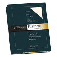 Southworth JD18IC 8 1/2 inch x 11 inch Ivory Box of 100% Cotton 32# Business Paper - 250/Sheets