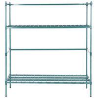 Regency 6 Keg Green Epoxy Keg Rack - 18 inch x 60 inch x 64 inch