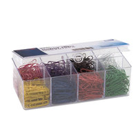 Officemate 97228 Assorted Color Plastic-Coated #2 Paper Clip   - 800/Pack