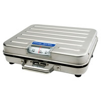 Rubbermaid Pelouze P250SS  250 lb. Mechanical Receiving Scale - Stainless Steel Briefcase (FGP250SS)
