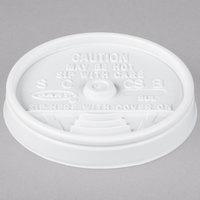 Dart 8UL White Plastic Sip Thru Lid - 100/Pack