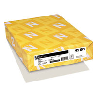 Neenah 49191 Exact 8 1/2 inch x 11 inch Gray 90# Smooth Index Paper Cardstock - 250/Pack