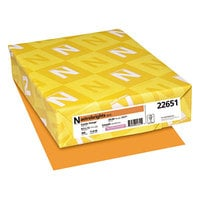 Astrobrights 22651 8 1/2 inch x 11 inch Cosmic Orange Ream of 24# Color Paper - 500 Sheets