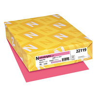 Astrobrights 22119 8 1/2 inch x 11 inch Plasma Pink Ream of 24# Color Paper - 500/Sheets