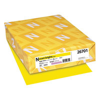 Neenah 26701 Exact Brights 8 1/2 inch x 11 inch Bright Yellow 20# Copy Paper - 500/Ream