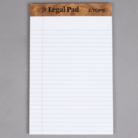 TOPS 7500 5 inch x 8 inch Narrow Ruled White Perforated Legal Pad - 12/Pack