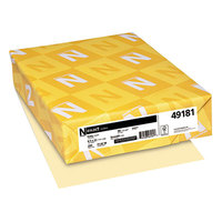 Neenah 49181 Exact 8 1/2 inch x 11 inch Ivory 90# Smooth Index Paper Cardstock - 250/Pack