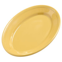 Carlisle 4387222 9 1/4 inch x 6 1/4 inch Honey Yellow Dayton Oval Platter 24 / Case