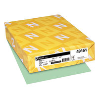 Neenah 49161 Exact 8 1/2 inch x 11 inch Green 90# Smooth Index Paper Cardstock - 250/Pack