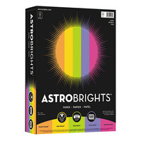 Astrobrights 21289 8 1/2 inch x 11 inch Assorted Happy Color Ream of 24# Color Paper - 500/Sheets