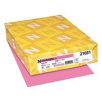 Astrobrights 21031 8 1/2 inch x 11 inch Pulsar Pink Ream of 24# Color Paper - 500/Sheets