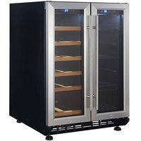 Eurodib USF36B Dual Section Dual Temperature Full Glass Door Undercounter Wine Refrigerator