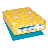Astrobrights 22661 8 1/2 inch x 11 inch Celestial Blue Ream of 24# Color Paper - 500/Sheets